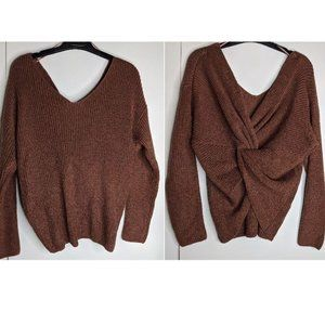 B. Original | Knotted Open Back Sweater NWT